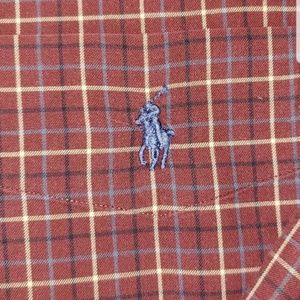 RALPH LAUREN CLASSIC XL PLAID DRESS SHIRT LONG SLE